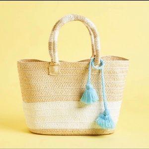 Altru Straw Tote Bag NWOT